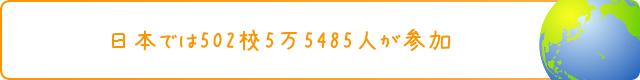 日本では502校5万5485人が参加